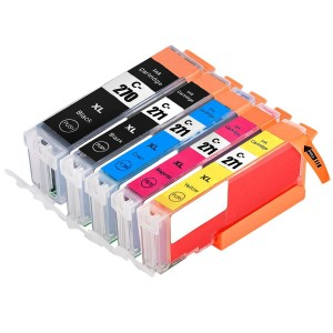 5 Pack 1BK/1BK/1C/1Y/1M Combo Canon 270XLBK/271XLBK/C/M/Y Ink Cartridge Black/Cyan/Magenta/Yellow New Compatible