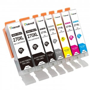 7 Pack Combo 2BK/1BK/1C/1M/1Y/1G Canon 270XLBK 271XLBK/C/M/Y/G Ink Cartridge Black/Cyan/Magenta/Yellow/Grey New Compatible
