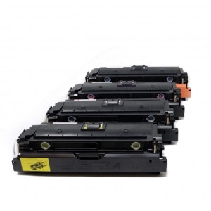 4 Pack Combo 1BK/1C/1M/1Y HP CF360A CF361A CF362A CF363A Toner Cartridge Black/Cyan/Magenta/Yellow New Compatible