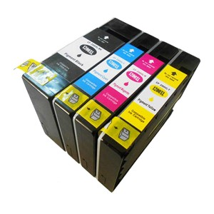 4 Pack Combo 1BK/1C/1M/1Y Canon CP-1200XL Pigment Ink Cartridge Black/Cyan/Magenta/Yellow New Compatible