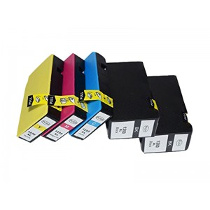 5 Pack Combo 2BK/1C/1M/1Y Canon CP-1200XL Pigment Ink Cartridge Black/Cyan/Magenta/Yellow New Compatible