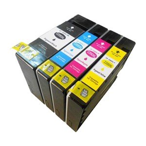 4 Pack Combo 1BK/1C/1M/1Y Canon CP-2200XL Pigment Ink Cartridge Black/Cyan/Magenta/Yellow New Compatible