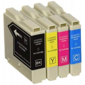 4 Pack 1BK/1C/1Y/1M Combo Brother LC51 Ink Cartridge Black/Cyan/Magenta/Yellow New compatible
