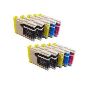 10 Pack 4BK/2C/2Y/2M Combo Brother LC51 Ink Cartridge Black/Cyan/Magenta/Yellow New compatible