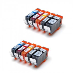 10 Pack 2BK/2BK/2C/2M/2Y Combo Canon PGI220XL/CLI221XL Black/Black/Cyan/Magenta/Yellow New Compatible Ink Cartridge