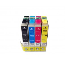 4 Pack 1BK/1C/1Y/1M Combo Epson T078 (T0781/2/3/420) Ink Cartridge Black/Cyan/Magenta/Yellow (Canada Only) New Compatible