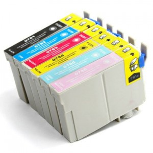6 Pack 1BK/1C/1Y/1M/1LC/1LM Combo Epson T078 (T0781/2/3/4/5/620) Ink Cartridge Black/Cyan/Magenta/Yellow/Light Cyan/Light Magenta (Canada Only) New Compatible