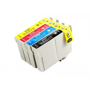 4 Pack 1BK/1C/1Y/1M Combo Epson T079 (T0791/2/3/420) Ink Cartridge Black/Cyan/Magenta/Yellow New Compatible (Canada Only)
