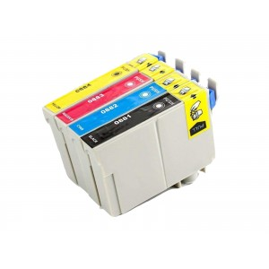 4 Pack 1BK/1C/1Y/1M Combo Epson T088 (T0881/2/3/4) Ink Cartridge Black/Cyan/Magenta/Yellow (Canada Only) New Compatible