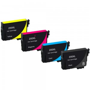 4 Pack 1BK/1C/1Y/1M Combo Epson T200 T200XL120 T200XL220 T200XL320 T200XL420 Ink Cartridge Black/Cyan/Magenta/Yellow New Compatible (Canada Only)