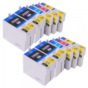 10 Pack 4BK/2C/2M/2Y Combo EPSON T252XL (2531/2/3/4) Ink Cartridge Black/Cyan/Magenta/Yellow New Compatible (Canada Only)