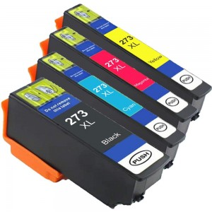 4 Pack 1BK/1C/1Y/1M Combo Epson T273XL T273XL120 T273XL220 T273XL320 T273XL420 Ink Cartridge Black/Cyan/Magenta/Yellow New Compatible (Canada Only)