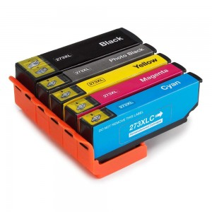 5 Pack 1BK/1C/1Y/1M/1P Combo Epson T273XL T273XL020 T273XL120 T273XL220 T273XL320 T273XL420  Ink Cartridge Black/Cyan/Magenta/Yellow/Photo Black New Compatible (Canada Only)