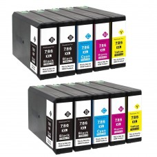 10 Pack 4BK/2C/2Y/2M Combo Epson T786 Ink Cartridge Black/Cyan/Magenta/Yellow New Compatible High Yield (Canada Only)