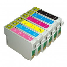 6 Pack 1BK/1C/1Y/1M/1LC/1LM Combo Epson T0981 T0992 T0993 T0994 T0995 T0996  Ink Cartridge Black/Cyan/Magenta/Yellow/Light Cyan/Light Magenta (Canada Only) New Compatible
