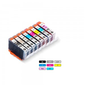 8 Pack Combo 1BK/1C/1M/1Y/1G/1LG/1PC/1PM Canon CLI 42 Black New Compatible Black/Cyan/Magenta/Yellow/Grey/Light Grey/Photo Cyan/ Photo/ Magenta Ink Cartridge