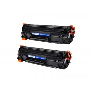 2 Pack Combo Canon 137/CF283X Toner Cartridge Black New Compatible