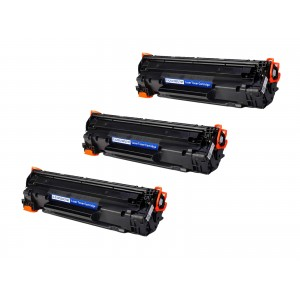 3 Pack Combo Canon 137/CF283X Toner Cartridge Black New Compatible