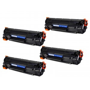 4 Pack Combo Canon 137/CF283X Toner Cartridge Black New Compatible