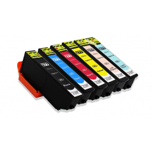 6 Pack Combo 1BK/1C/1M/1Y/1LC/1LM Epson T277XL1/2/3/4/5/620 New Compatible Black/Cyan/Magenta/Yellow/Light Cyan/Light Magenta Ink Cartridge High Yield (Canada Only)