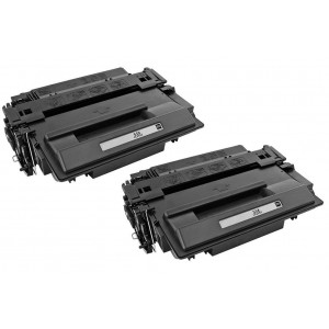 2 Pack HP CE255X Toner Cartridge Black High Yield (55X) New Compatible