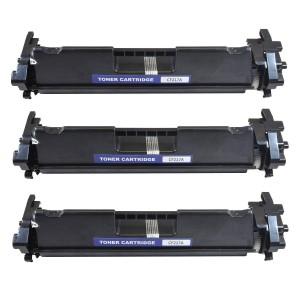 3 Pack HP 17A CF217A Black Toner Cartridge Remanufactured