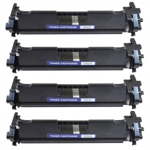 4 Pack HP 17A CF217A Black Toner Cartridge Remanufacture4