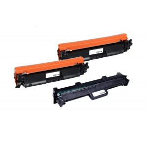 3 Pack Combo (1 Drum+ 2 Toner) HP 17A 19A CF217A CF219A Black Compatible Toner and Drum