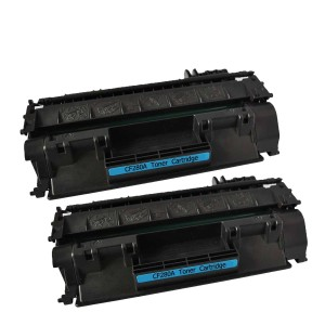 2 Pack Combo Hp 80A(CF280A)/05A(CE505A) / Canon 119 (CRG119) Toner Cartridges Black New Compatible
