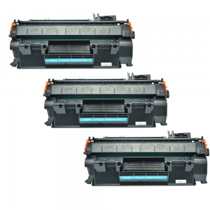 3 Pack Combo Hp 80A(CF280A)/05A(CE505A) / Canon 119 (CRG119)  Toner Cartridges Black New Compatible