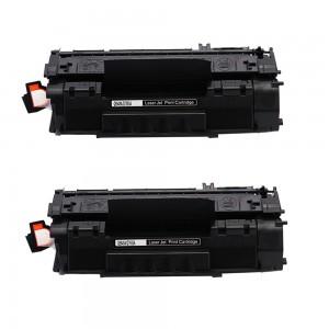 2 Pack HP Q7553A/Q5949A Toner Cartridge Black (53A) / (49A) New Compatible