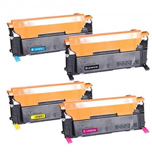 4 Pack 1BK/1C/1Y/1M Combo Samsung CLT407S Toner Cartridge Black/Cyan/Magenta/Yellow New Compatible(CLP320)
