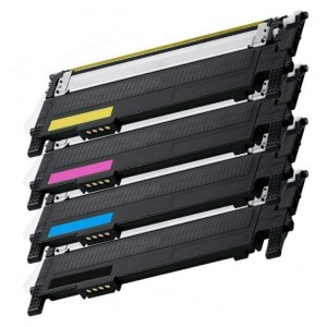 4 Pack 1BK/1C/1Y/1M Combo Samsung CLTK406S Toner Cartridge Black/Cyan/Magenta/Yellow New Compatible