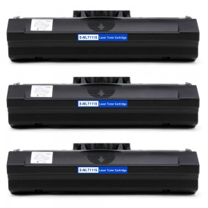 3 Pack Samsung MLT-D111S Toner Cartridge Black New Compatible