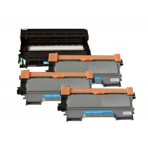 4 Pack 1D/3T Combo Brother DR420/TN450 Toner Cartridge New Compatible