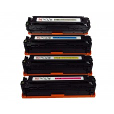 4 Pack BK/C/Y/M Combo Hp CF210X/CF211A/CF212A/CF213A/CB540A/CE320A/ Canon CRG 131/331/731/116 Combo Set Toner Cartridge New Compatible