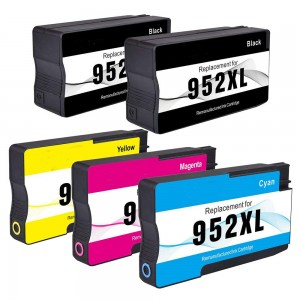 5 Pack 2BK/1C/1Y/1M Combo HP 952XL Ink Cartridge Black/Cyan/Magenta/Yellow New Compatible