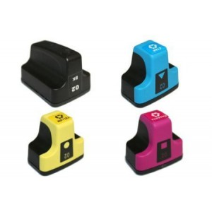 4 Pack 1BK/1C/1Y/1M Combo Hp 02 (C8721WN/C8771/2/3WN) Ink Cartridge Black/Cyan/Magenta/Yellow Remanufactured