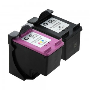 2 Pack Combo 1BK/1C Hp 60XL (CC641W, CC644W) Ink Cartridge Black Tricolor Remanufactured