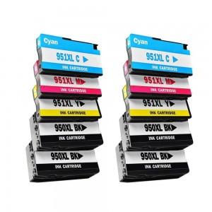 10 Pack 4BK/2C/2Y/2M Combo Hp 950XL(CN045AN) / HP 951XL(CN046/7/8AN) Black/Cyan/Magenta/Yellow Ink Cartridge Remanufactured