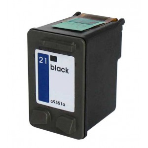 Hp 21 (C9351A) Ink Cartridge Black Remanufactured