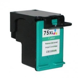 HP 75XL (CB338WN) Ink Cartridge Tricolor Remanufactured