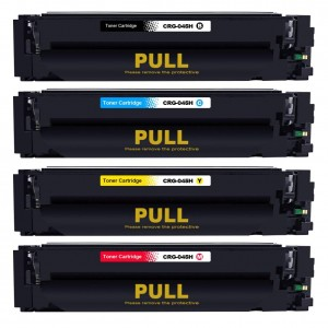 4 Pack BK/C/Y/M Combo Canon 045H Black/Cyan/Magenta/Yellow Remanufactured Toner Cartridge High Yield