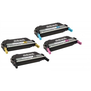 4 Pack Combo BK/C/M/Y Hp Q6470A Q6471A Q6472A Q6473A Canon CRG117 Toner Cartridge Black/Cyan/Magenta/Yellow Remanufactured