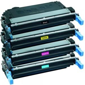 4 Pack Combo Hp CB400A CB401A CB402A CB403A Toner Cartridge Black/Cyan/Magenta/Yellow Remanufactured