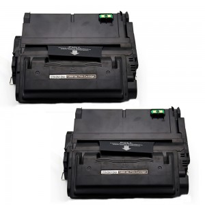 2 Pack HP Q5942X /Q1338A/Q1339A/Q5945A Toner Cartridge Black (42X) Remanufactured