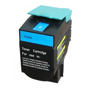 Lexmark C540X2CG Toner Cartridge Cyan Remanufactured (C540)